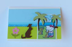 faite par ma fille. Cartouches Life's a beach / Hello Kitty Greetings / Noah's ABC Animals