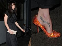 Lily Cole tattoo
