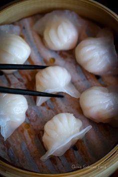 Har Gow, dim sum dumplings China Sichuan Food