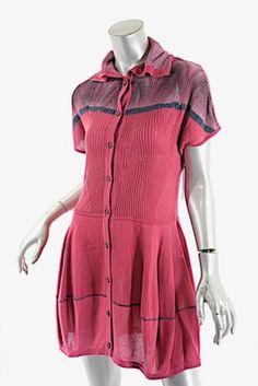 a2f1fcf9fe0 Details about YOSHI YOSHI by PJ Fuchsia Lyocel Blend BD Knit Tunic Dress Sz  S NWT $419