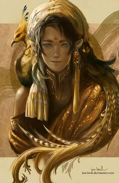 Feathers by Jon-Lock female elf gypsy ranger thief rogue assassin armor clothes clothing fashion player character npc   Create your own roleplaying game material w/ RPG Bard: www.rpgbard.com   Writing inspiration for Dungeons and Dragons DND D&D Pathfinder PFRPG Warhammer 40k Star Wars Shadowrun Call of Cthulhu Lord of the Rings LoTR + d20 fantasy science fiction scifi horror design   Not Trusty Sword art: click artwork for source