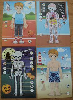 Lidské tělo, kostra, orgány - puzzle