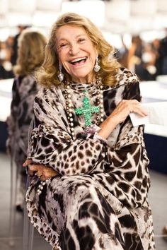 The beauty is in her age.  Marta Marzotto is one of the most famous designers in Italy. via  images.thesartorialist.com