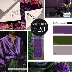 Pantone Colors: Grape Compote, Chive, Ash -- Follow Paper Couture Studio on Instagram and Facebook! @papercouturestudio --