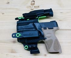Excited to share this item from my #etsy shop: Fits Taurus G3C Olight BALDR mini Baller holster Black Carbon Fiber and Zombie Green iwb aiwb Custom Holster USA Made RoyaliteHG Custom Holsters, Plastic Sheets, Carbon Black, Kydex, Pew Pew, Taurus, Carbon Fiber, Guns, Etsy Shop