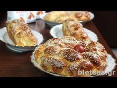 Πασχαλινά Tσουρέκια (Βήμα-Βήμα) - YouTube Greek Sweets, Greek Desserts, Greek Recipes, Easter Recipes, Holiday Recipes, Vasilopita Recipe, Greek Easter Bread, Greek Cooking, Pastry Art