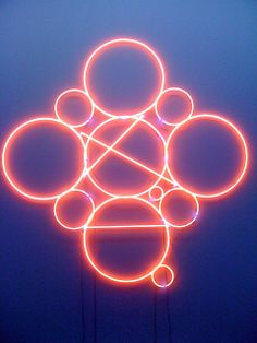 by mai-thu perret Neon Light Art, Neon Artwork, Glow Paint, Neon Nights, All Of The Lights, Sign Lighting, Neon Glow, Light Installation, Graphic