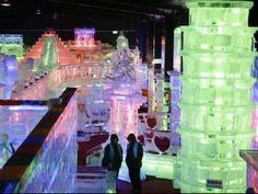 Esculturas de gelo no Harbin Ice Festival - China