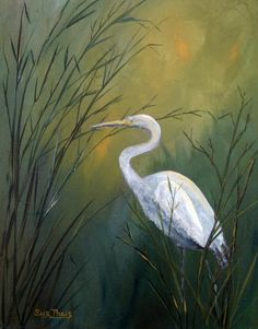 Louisiana Art Painting - Serenity by Suzanne Theis Paintings I Love, Animal Paintings, Beautiful Paintings, Watercolor Paintings, Original Paintings, Watercolors, Canvas Art, Canvas Prints, Art Prints