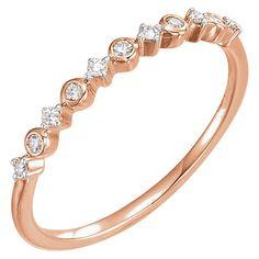 14k Rose Gold Diamond Band - Stuller for Diamonds Ltd.