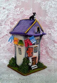 Всем привет! Это опять я:) Покажу вам свои сказочные домики из папье-маше.... фото 5