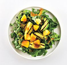 Avocado Salad with Peaches Recipe from by Greg Baker, The Refinery | Epicurious.com