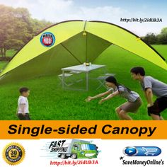 Pop Up Tent Large Single Sided Canopy Tent Sun Shelter For Camping  This Pop Up Tent Large Single Sided plenty of room for a barbecue, driving, picnics, base camp, exhibition, etc.Cloth around can be removed,Very easy to use. very good tool for...
