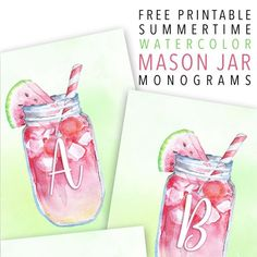 Hello everyone! It's FRIDAY and that means one thing here at The Cottage Market…it's FREE PRINTABLE Day!!! We have a brand new Free Printable for you today to help you celebrate SUMMER!!! Free Printable Summertime Watercolor Mason Jar Monograms/Banners. This yummy Watermelonade just simply says SUMMERTIME! You can print these cuties out in 5X7 or …