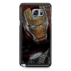 Typography Ironman TATUM-11513 Samsung Phonecase Cover Samsung Galaxy Note 2 Note 3 Note 4 Note 5 Note Edge