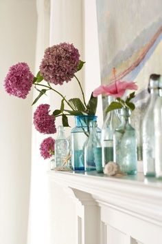 Mantel decoration  - great for 4th of july!