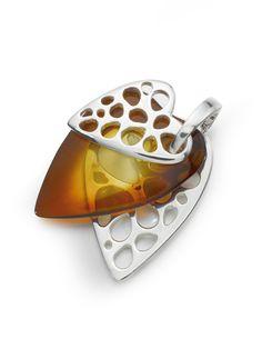 luxury amber heart