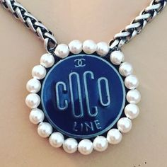 Super sweet and unique vintage designer button necklace.