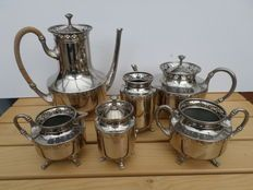 Daalderop koffie en thee ensemble verchroomd nikkel - 2e helft 20e eeuw