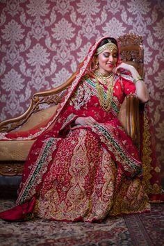 "Photo from Zerabeauty ""Portfolio"" album Red Lehenga, Bridal Lehenga, Saree Wedding, Wedding Dresses, Saree Gown, Bridal Photography, Wedding Colors, Groom, Beige"