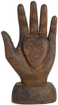 century Odd Fellows Heart in Hand staff finial. 10 h - love the heart in hand. I Love Heart, With All My Heart, Sculptures Céramiques, Hand Sculpture, Show Of Hands, Odd Fellows, Heart Hands, Paperclay, Hand Art