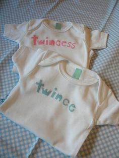 Adorable Onesies for Twins Twin Outfits, Baby Boy Outfits, Baby Shirts, Onesies, Twin Baby Clothes, Baby Boy Monogram, Boy Girl Twins, Cute Twins, How To Have Twins