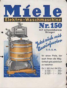 GÜTERSLOH/Westfalen, Werbung 1934, Miele-Werke AG Elektro-Waschmaschinen-Fabrik…