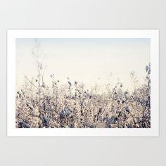 Winter Field 2 Art Print by Mareike Böhmer - $18.00