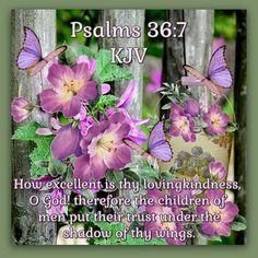 Psalm 36:7 KJV