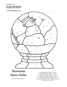 Snowman Snowglobe Lots of glass patterns. Could also use as appliqué patterns Maybe use this on a lighted glass block Stained Glass Patterns Free, Stained Glass Quilt, Stained Glass Ornaments, Stained Glass Christmas, Faux Stained Glass, Stained Glass Panels, Stained Glass Projects, Mosaic Patterns, Applique Patterns