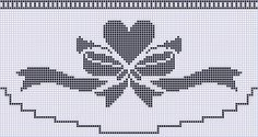 Free Crochet Pattern Charts at AllCrafts! Cross Stitch Borders, Cross Stitch Charts, Cross Stitch Designs, Cross Stitching, Cross Stitch Patterns, Craft Patterns, Quilt Patterns, Crochet Patterns, Crochet Curtains