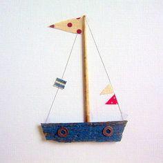 Handmade boat card