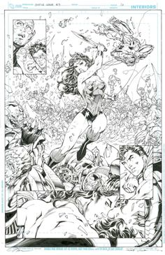 Justice League New 52 Wonder Woman splash Comic Art