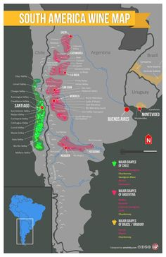 South America Wine Regions Map