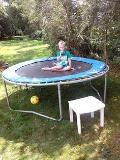 Op trampolines springen