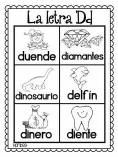 Preschool Spanish, Spanish Lessons For Kids, Preschool Writing, Spanish Class, Kindergarten Literacy, Spanish Language Learning, Teaching Spanish, Teaching Kids, Abc Cards