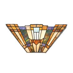Art glass wall scone