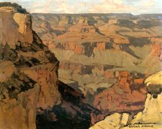 Edgar Alwin Payne. Grand Canyon. Oil on Canvas. 19 x 24 in.