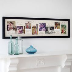personalised vintage photo timeline print by the drifting bear co. | notonthehighstreet.com