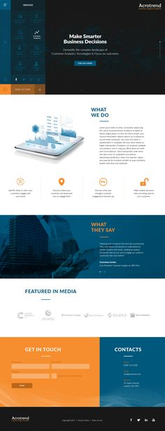 Acotrend website concept.