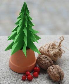 Onze Suus DIY Kerst_kerstboompje van papier