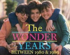 The Wonder Years... This show was amazing. In fact, it was on NetFlix recently and we watched several old episodes. It's still just as amazing now as it was back then.