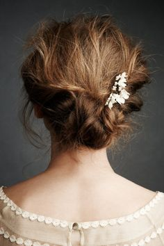 Dogwood Flower Hairpins in Shoes & Accessories Headpieces at BHLDN