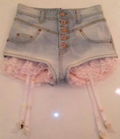 shorts with garters. I don't think I'd wear them like this, but they're adorable