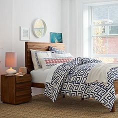 You would not believe how lush this great Greek key motif duvet cover from West Elm is!