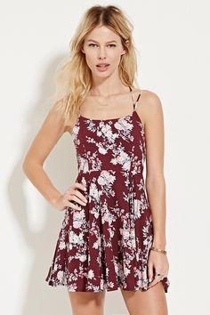 Strappy Floral Print Mini Dress - Dresses - 2000151432 - Forever 21 EU English