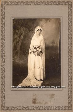 Forgotten Faces and Long Ago Places: Wedding Wednesday - Serene Bride - 1910s?