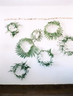 DIY Fern Wreath by sarahwinward: Fill a wall with joy. Perfect for Christmas or a garden wedding. #DIY #Wreath #Fern #Easy