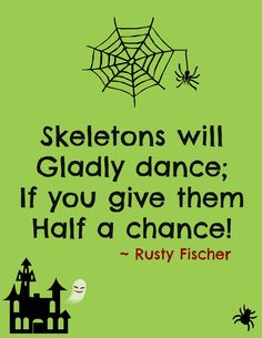 Skeleton dance... A Halloween poem