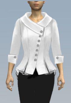 Retro Jacket by Amber Middaugh Big Girl Fashion, Womens Fashion, Glamorous Dresses, Vintage Inspired Fashion, Office Dresses, Dress Suits, Trendy Tops, Vest Jacket, My Wardrobe